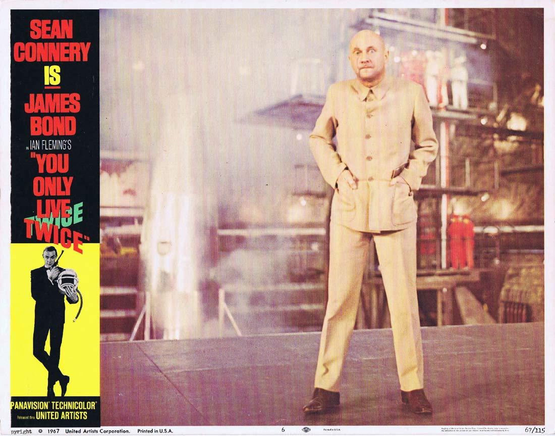 YOU ONLY LIVE TWICE Original Lobby Card 6 James Bond Donald Pleasence Blofeld